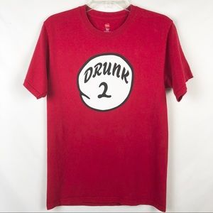 Drunk 2 T-shirt In Red Size Small